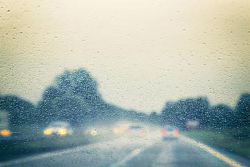 Autobahn - Regen