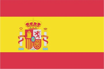 Illustration of the flag of Spain