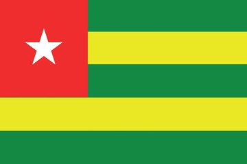 Illustration of the flag of Togo