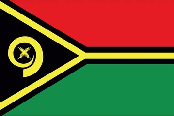 Illustration of the flag of Vanuatu