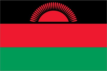 Illustration of the flag of Malawi