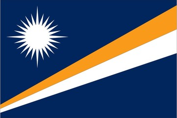 Illustration of the flag of Marshall Islands