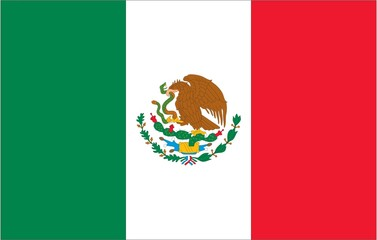 Illustration of the flag of Mexico
