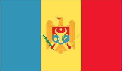 Illustration of the flag of Moldova