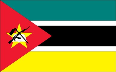 Illustration of the flag of Mozambique