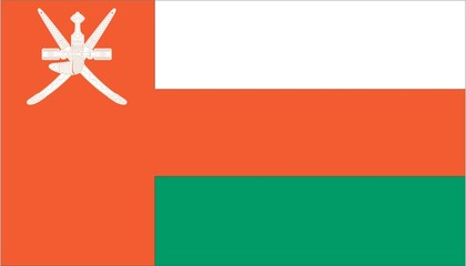 Illustration of the flag of Oman