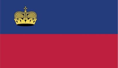 Illustration of the flag of Liechtenstein