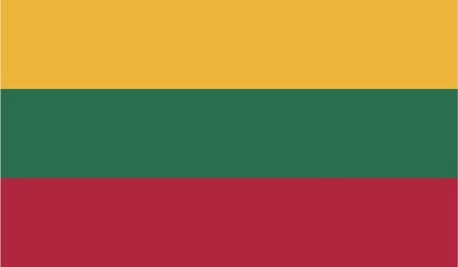 Illustration of the flag of Lithuania