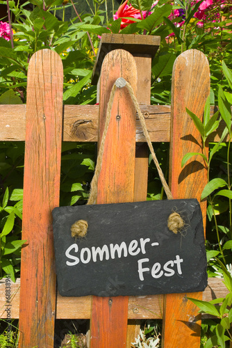 canvas print picture Sommerfest