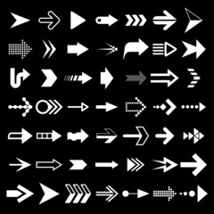 Arrows and pointer signs set vector illustration