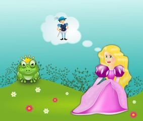 Frog prince fairytale