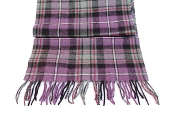 Warm and soft violet Tartan Scarves