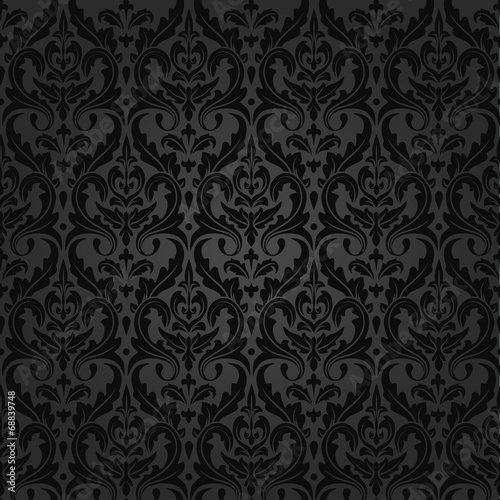 Spoed canvasdoek 2cm dik Kunstmatig damask royal pattern
