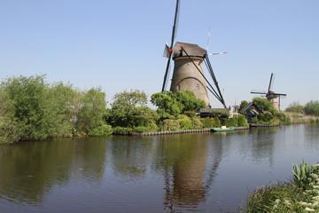 Dutch windmills at Kinderdijk, The Netherlands