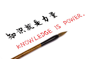 knowledge is power in chinese character