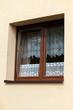 Współczesne okno kuchenne na zewnątrz budynku