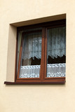 Fototapety Współczesne okno kuchenne na zewnątrz budynku