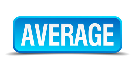average blue 3d realistic square isolated button