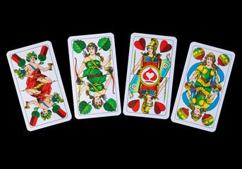 Vier Asse im Spiel