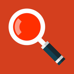 Search Magnifying Glass Icon in Flat Style. Vector