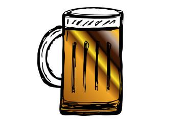 Glas Bier - freigestellt