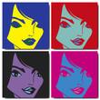 Gros plan sur un visage de femme pop art