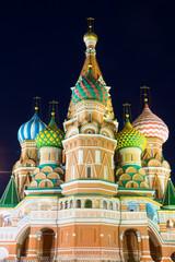 Храм Василия Блаженного ночью