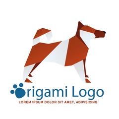 Origami logotype, dog logo
