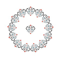 round vector ornament