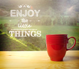 Fototapety Smell the Coffee, Enjoy the Little Things
