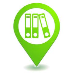 archive classement sur symbole localisation vert