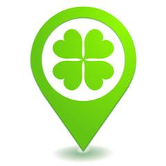 chance sur symbole localisation vert