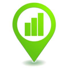 graphique sur symbole localisation vert