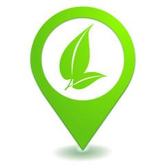 végétal naturel sur symbole localisation vert