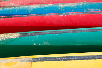 colorful of canoe, background