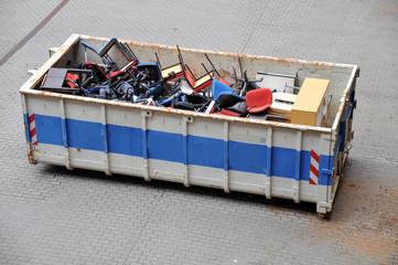 Arbeitsplatzabbau, Container, Entlassung, Stellenstreichung