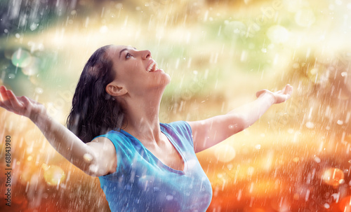 canvas print picture autumn rain