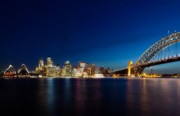 Skyline of Sydney by Night
