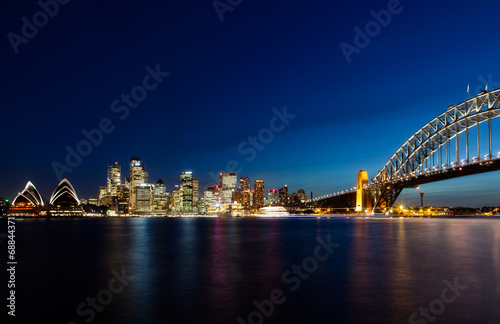 Poster Skyline of Sydney by Night