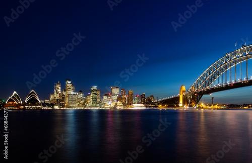 Poster Skyline of Sydney by Night