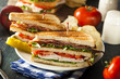 Turkey and Bacon Club Sandwich - 68844566