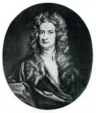 Isaac Newton, English physicist and mathematician poster