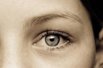 Auge eines Mädchens