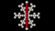 Christmas bauble snowflake loop.