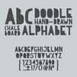 Hand draw doodle abc, alphabet grunge scratch type font vector - 68845104