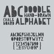 Hand draw doodle abc, alphabet grunge scratch type font vector - 68845104