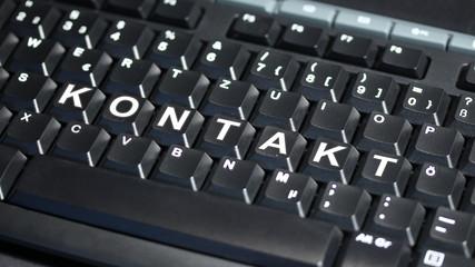 Computer Tastatur mit KONTAKT Text - 16 zu 9 - g1081