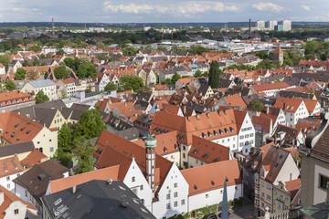 Jakobervorstadt und Skyline von Augsburg