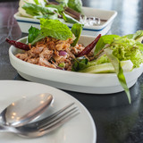 """Hory Duck, Thai food named """"Larb Ped"""""""