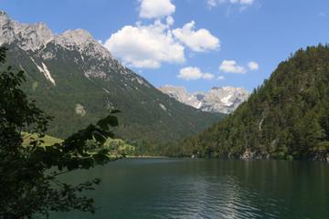 Blick vom Hintersteiner See auf den Wilden Kaiser